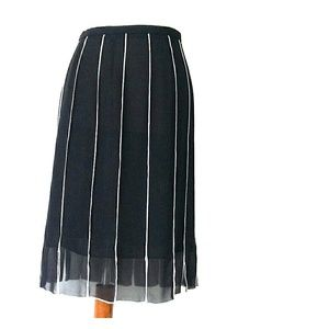 JS Collection Black Knee Length Skirt Size 6